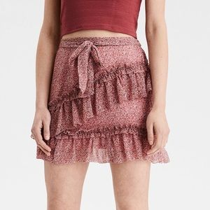 NWOT Tiered Ruffle Mini Skirt